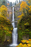 Fall Colors at Multnomah Falls