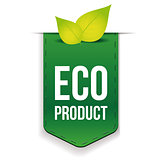 Eco Product ribbon with leaf