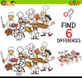 difference game with chefs