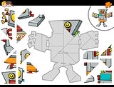 jigsaw puzzle game with robot