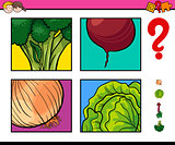 educational activity with vegetable