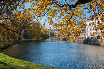 City moat in Gothenburg Sweden