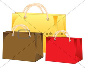 Three bags colour