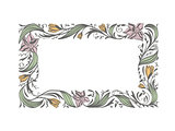 Floral Flower Decorative Frame