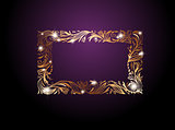 Golden Floral Decorative Frame