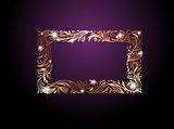 Golden Floral Decorative Frame