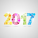Happy new year 2017 design. Vector illustration.