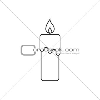 Candle thin line icon