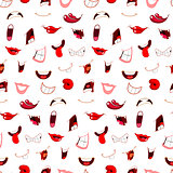 Cartoon mouths pattern
