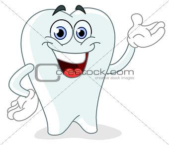 Cartoon tooth