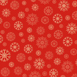 Gorgeous snowflakes background in golden and red