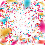 Colorful confetti on white background. EPS 10
