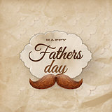 Card with mustache for Father s Day. EPS 10