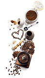 coffee attributes on a white background