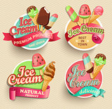 Ice cream emblems.