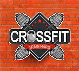 Retro styled crossfit emblem.
