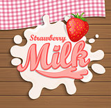 Milk strawberry splash.