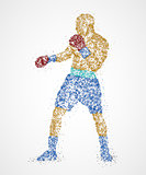 Boxer abstract athlete