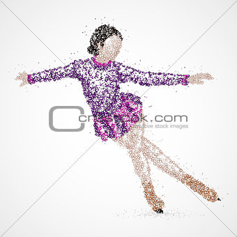 abstraction, skating, athlete