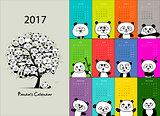 Panda calendar 2017 design
