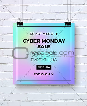 Cyber monday concept design for banner, flyer and advertisement