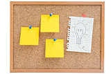 Isolated working idea and papers board
