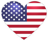 Symbol US flag heart shape