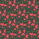 Seamless flower garden pattern