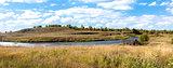 River Msta bright sunny day in autumn