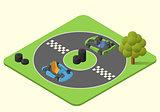 kart sport car vector