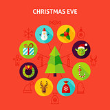 Christmas Eve Infographic Concept