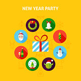 New Year Party Infographic