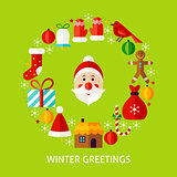 Winter Greetings Postcard