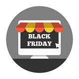 Online shoping on black friday