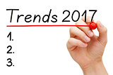 Trends Year 2017 List Concept