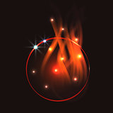Fire circle abstract shape vector.