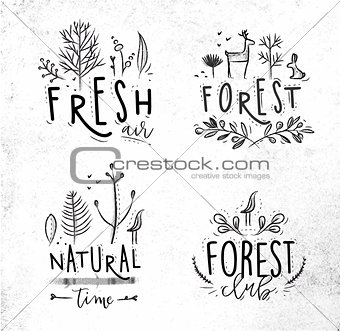 Forest labels coal