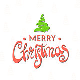 Beautiful lettering Merry Christmas