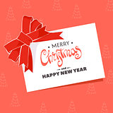 Postcard with the words Merry Christmas