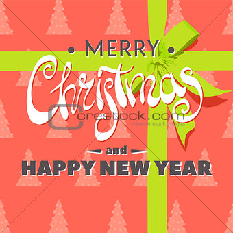 Beautiful Christmas greeting inscription