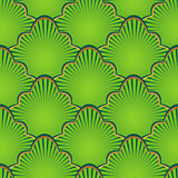 Golden and green seamless pattern