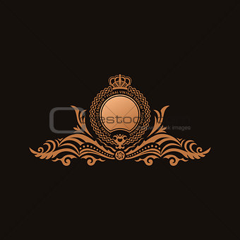 Calligraphic Luxury logo. Emblem elegant decor elements. Vintage
