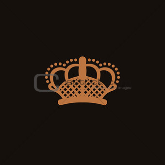 Crown logo black and beige style