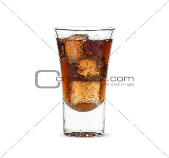 alcoholic drink with ice cubes