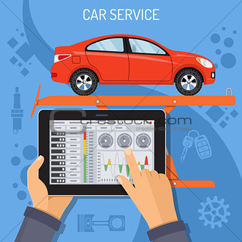 Car Service and Maintenance Concept