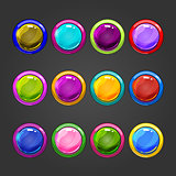 Big set of vector circle web button