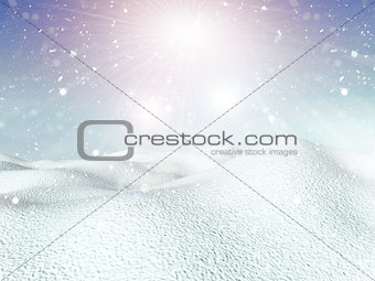 3D snowy background
