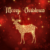 christmas deer background 1810