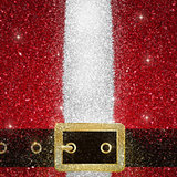 Glitter effect Santas coat and belt