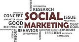 word cloud - social marketing